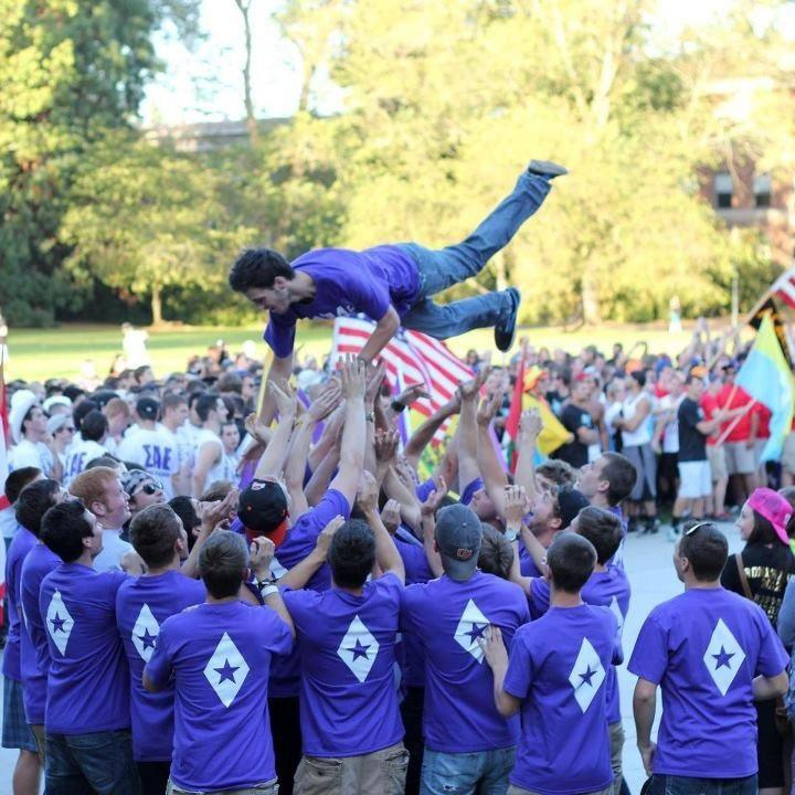 FIJI brothers at JUMP; a university event that welcomes new fraternity members to the Greek community
