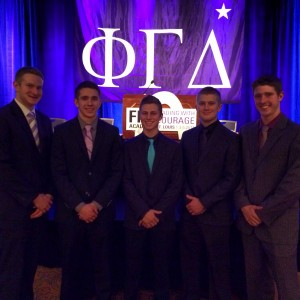 KO Brothers at Fiji Academy Pig Dinner (l to r: Josh Cohrs, Brent Wilson, Cory Graham, Colin Pyle, and Evan Bassford)